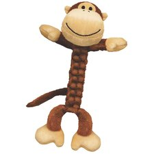 Braidz Monkey Plush Dog Toy