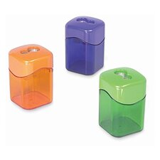 "Dual Sharpener, w/ Receptable, 2-1/8"", Assorted"