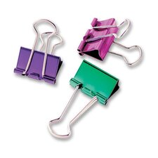 "Binder Clip, Small, 3/4"", 8/PK, Metallic Assorted"