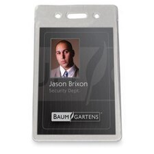 "Proximity Badge Holder,Vertical,3-1/2""x2-3/8"", 50/PK, Clear"