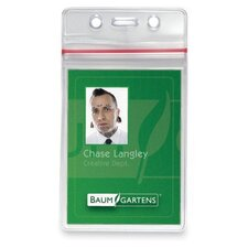 "<strong>Baumgartens</strong> Sealable Card Holders,Vertical,3-3/4""x2-5/8"",50/PK,Clear"