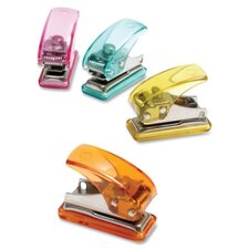 "Single Hole Punch, Mini, 3-1/2""x3""x2"", Assorted"