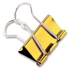 "Binder Clips, Large, 1-1/4"", 4 per Pack, Metallic Assorted"
