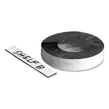 "Magnetic Label Tape, Markable, 50'x1"" Roll, White"