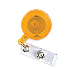 "ID Card Reel, 24"" L, 1-1/4"" D, Orange"