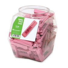 "Pencil Eraser, Rubber, 2-1/2"", 140 per Set"