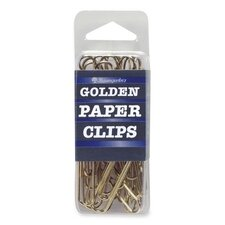 Paper Clips, Jumbo, No. 2, 40 per Box, Gold