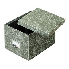 Fiberboard Index Card Storage Box (Set of 6)
