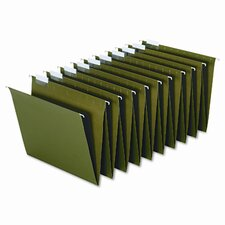 Hanging Accordion Folders, Letter Size, Green, 2 Sets of 10 Each Per Box