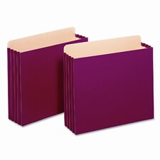 "Globe-Weis 3.5"" Expansion File Pockets, Straight, Letter (10/Box)"