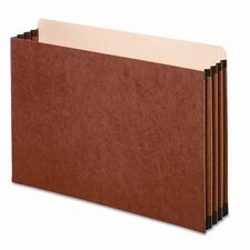 "3 1/2"" Expansion File Cabinet Pocket, Straight, Legal, Redrope, 10/Pack"