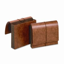 "Globe-Weis 3.5"" Expansion Accordion Wallets, Straight, Redrope, Letter"