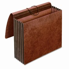 "Globe-Weis 5.25"" Expansion Accordion Wallet, Straight, Redrope, Letter"