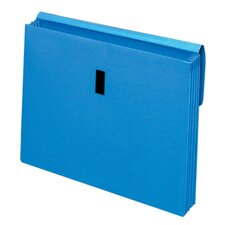 "<strong>Globe Weis</strong> Wallet With Flap, 3-1/2""Expansion, Letter, Blue/Red/Yellow"