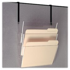 "<strong>Officemate International Corp</strong> Wall File, 13""x4-1/8""x7"", Letter, Clear"