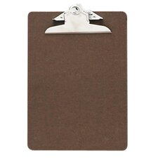 "Hardboard Clipboard, 1"" Paper Capacity, 6""x9"", Brown"