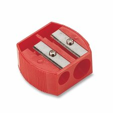 "Pencil/Crayon Sharpener, 1-1/4""x5/8""x1-1/4"", Red"