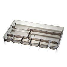 "Drawer Tray, 9 Compartmentss, 14""x9""x1-1/8"", Smoke"