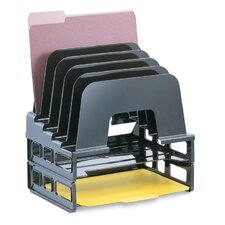 "<strong>Officemate International Corp</strong> Incline Sorter With Two Trays, 13-1/2""x9""x14-1/2"", Black"