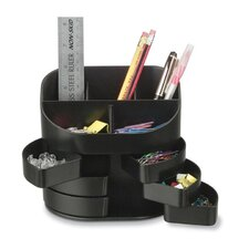 "<strong>Officemate International Corp</strong> Double Supply Organizer, 5""x3-3/4""x4-1/2"", Black"