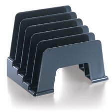 "Incline Sorter, 6 Compartmentss, 5-1/16""x8""x6-1/16"", Smoke/Black"