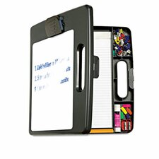 Portable Dry Erase Clipboard Case with 4 Compartments