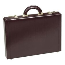 Executive Slim Leather Attaché Case