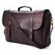 <strong>Winn International</strong> Traditional Leather Laptop Briefcase