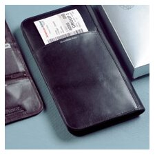 Cowhide Nappa Leather Passport Travel Organizer