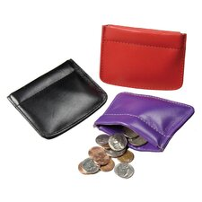Facile Frame Leather Coin Pouch