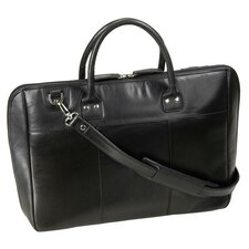<strong>Winn International</strong> Leather Laptop Briefcase