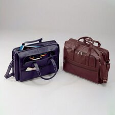 Cowhide Leather Lightweight Briefcase with Organizer