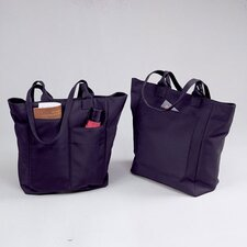 Microfiber Ladies' Shopping Tote Bag in Black