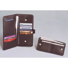 Cowhide Nappa Leather Passport Organizer with Wallet