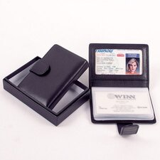 Black Cowhide Nappa Leather Mini Business Card Holder II