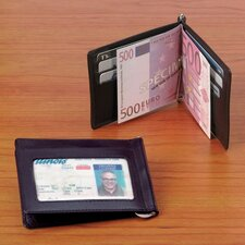 Cowhide Drum-Dyed Nappa Leather Credit Card Money Clip