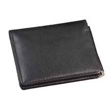 <strong>Winn International</strong> Cowhide Napa Leather Money Clip Wallet