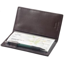 <strong>Winn International</strong> Cowhide Nappa Leather Simplified Checkbook Secretary