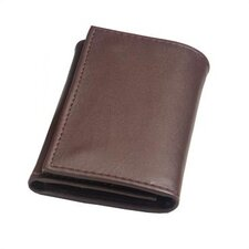 Harness Cowhide Leather Snap Button Closure Key Case