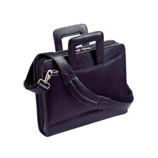 Harness Cowhide Napa Leather Portfolio with 3-Ring Binder and Removable Shoulder Strap