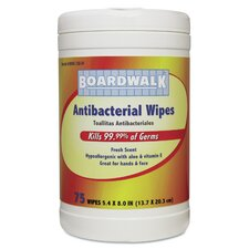 Antibacterial Fresh Scent Wipes (Pack of 75)