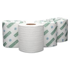 Plus Embossed 1-Ply Toilet Paper - 500 Sheets per Roll / 96 Rolls