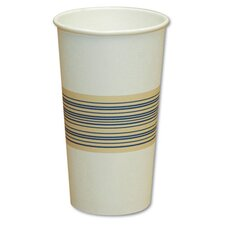 Paper Hot Cup in Blue and Tan