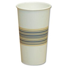 20 oz Paper Hot Cup in Blue and Tan