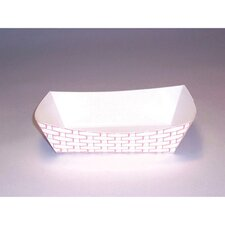 6 oz Paper Food Basket in Red and White