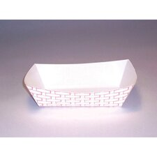 2.5 lbs Paper Food Basket in Red and White