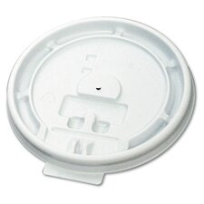 Hot Cup Tear-Tab Lid Fits 8 oz Cups in White