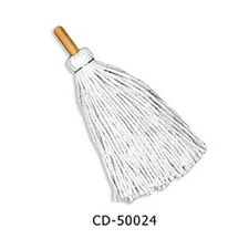24 Handle Deck Mop Head in White
