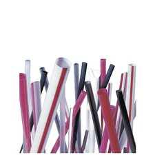 (6000 per Carton) Unwrapped Jumbo Straws in Red