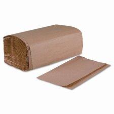Single Fold 1-Ply Paper Towels - 250 Towels per Box / 16 Boxes